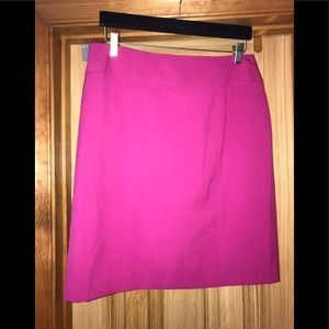 Worthington Hot Pink Fully Lined Pencil Skirt.
